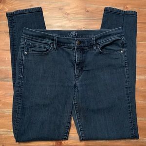 LOFT modern skinny jeans. Dark blue. 31/12